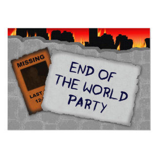End of the World/Apocalypse Party Invitation