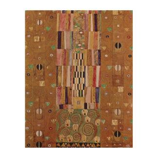 End of Wall, Stoclet Frieze, Klimt, Mosaic Pattern Wood Wall Decor