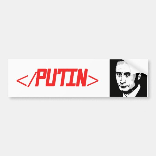 END PUTIN -.png Bumper Stickers