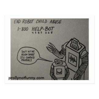 End Robot Child Abuse Postcard