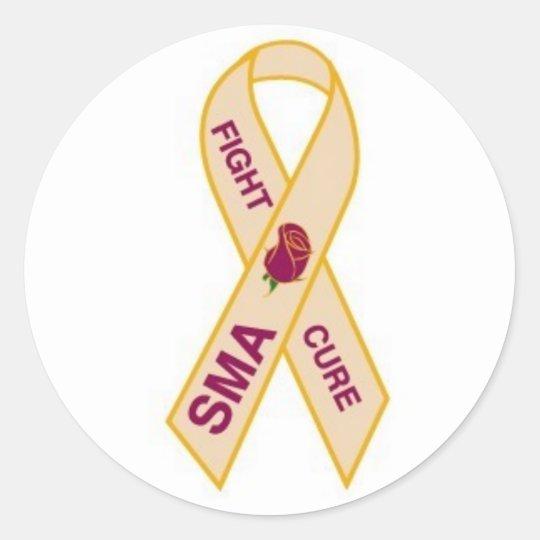 END-SMA-pin Classic Round Sticker