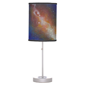 End Table Lamp, Galaxy, Space, red, Blue, Purple Table Lamp