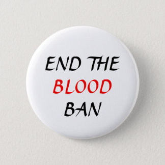 End the Blood Ban plain pin