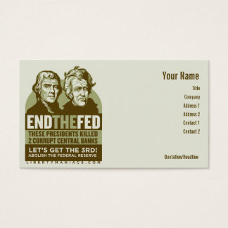 End the Fed Action Cards