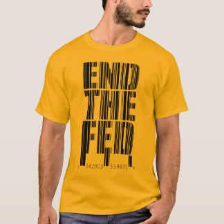 End The Fed Bar Code Design Shirt