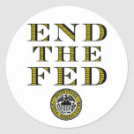 End The Fed Federal Reserve Round Stickers