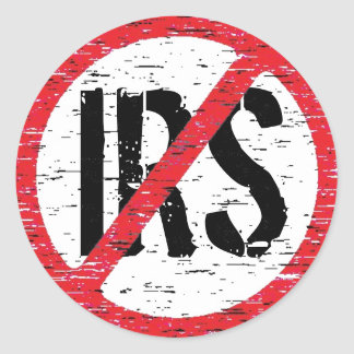 End the IRS Classic Round Sticker
