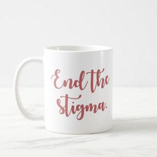 End the Stigma Calligraphy Coffee Mug