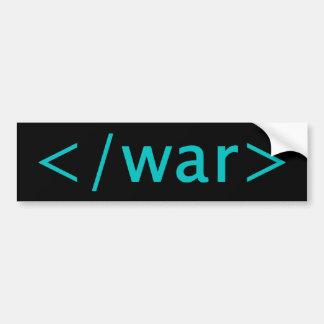 End War Bumper Sticker
