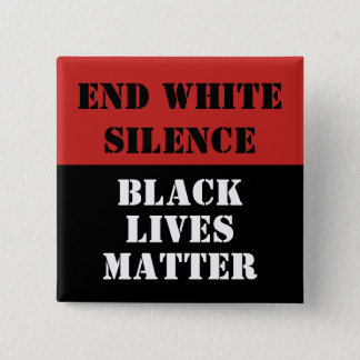 End White Silence 2 Inch Square Button
