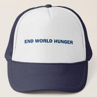END WORLD HUNGER TRUCKER HAT