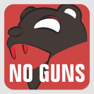 Endanger Bear Square Sticker
