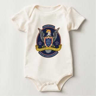 Endanger the Bald Ego Baby Bodysuit