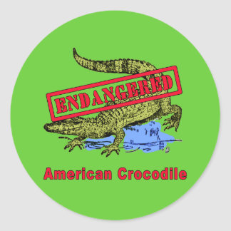 Endangered American Crocodile Products Round Sticker