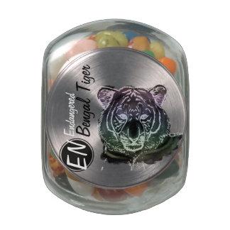 Endangered | Bengal Tiger | Candy Jar 2 Glass Candy Jars
