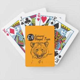 Endangered | Bengal Tiger | Playing Cards