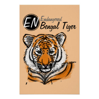 Endangered | Bengal Tiger | Poster