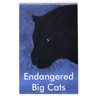 Endangered Big Cats Wall Calendar