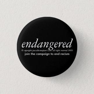 endangered by papscalleconceptart 1 inch round button