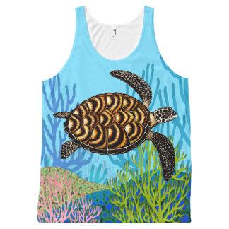 Endangered Hawksbill Sea Turtle Tank