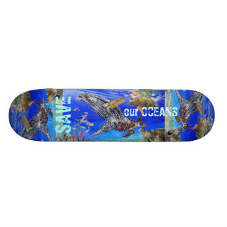 Endangered Sea Turtle Art Skateboard