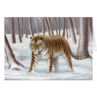 Endangered Siberian Tiger Card