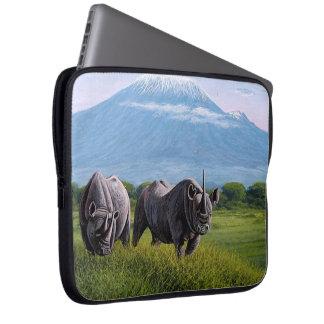 Endangered species Rhinoceros Laptop sleeve