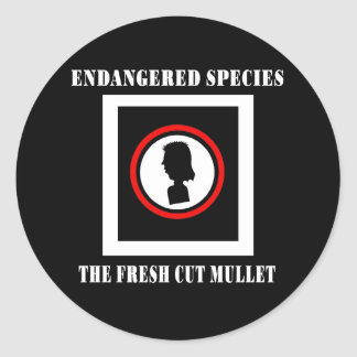 Endangered Species-The Fresh Cut Mullet Classic Round Sticker