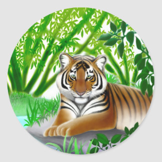Endangered Sumatran Tiger Sticker