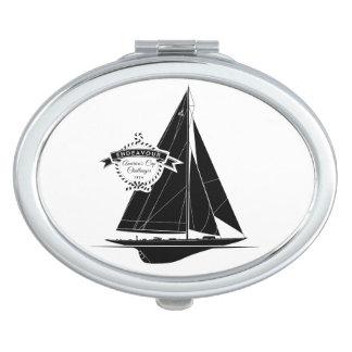 Endeavour Black Compact Mirrors