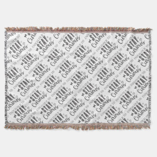 endeavour to stay curious throw blanket