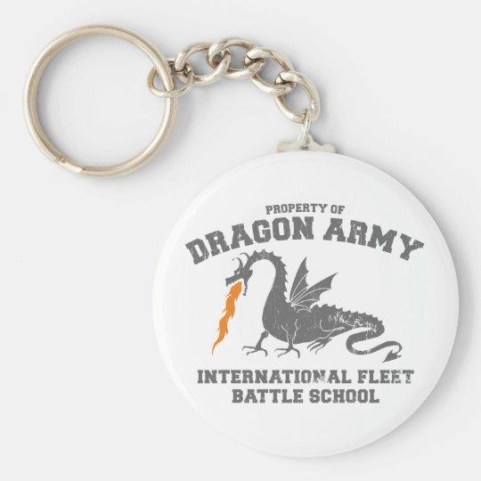 ender dragon army basic round button keychain