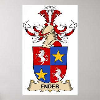 Ender Family Crest Poster