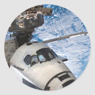 Endevour space shuttle round sticker