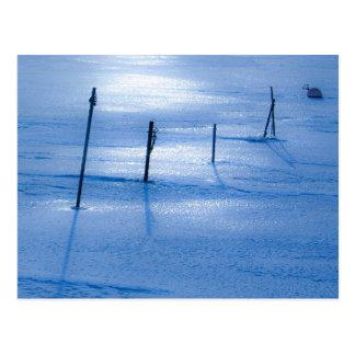 Endless blue ice postcard