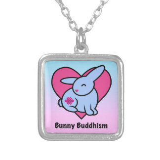 Endless Bunny Buddhism Silver Plated Necklace