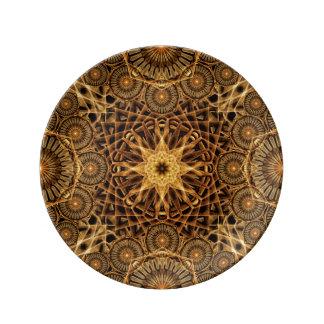 Endless Earth Mandala Porcelain Plates