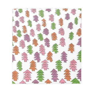 Endless Forest Pine Trees Print Notepad