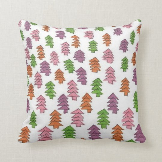 Endless Forest Trees Throw Pillow