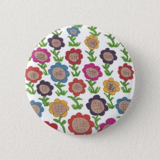 Endless Garden Flower Pattern Art 2 Inch Round Button