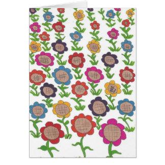Endless Garden Flower Pattern Art Card