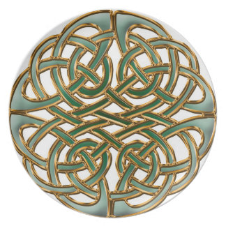 Endless knot celtic plate