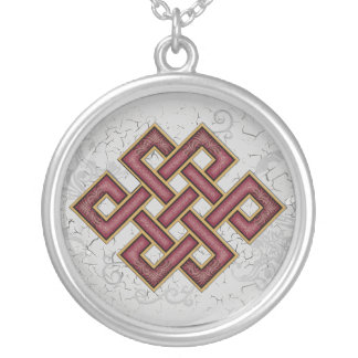 Endless Knot Silver Plated Necklace