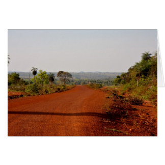 Endless red dirt road greeting card