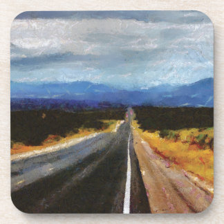 Endless Road - New Mexico. Drink Coaster