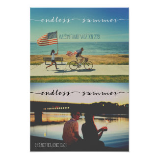 Endless Summer Typography Family Vacation Photos Poster