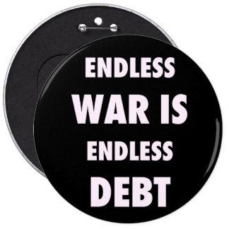 Endless War is Endless Debt Button