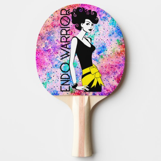 ENDO WARRIOR Ping Pong Paddle, Red Rubber Back Ping Pong Paddle