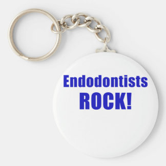 Endodontists Rock Basic Round Button Keychain