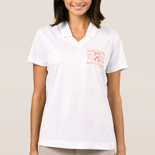 Endometrial Cancer Survivors Fighting Together Polo T-shirts